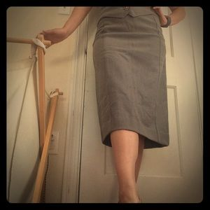 Vintage wool pencil skirt